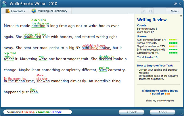 Writing software for business correspondence - emails, reports and letters