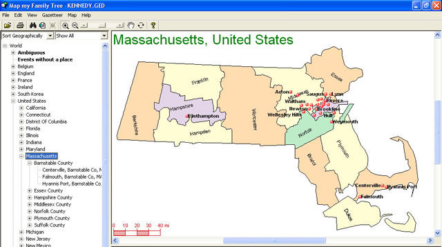 Create Colourful Family Maps that Advance Your Genealogy Research!