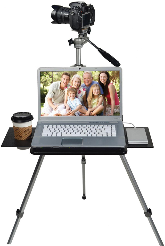 A different kind of stand for Cameras and Laptops, create your own portable studio everywhere you go!
