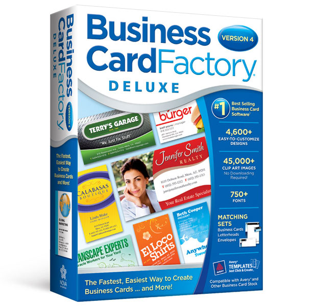 Business Card Factory Deluxe Avanquest - Windows business card template
