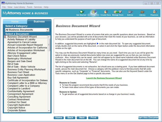 MyAttorney Home Business – Business Document