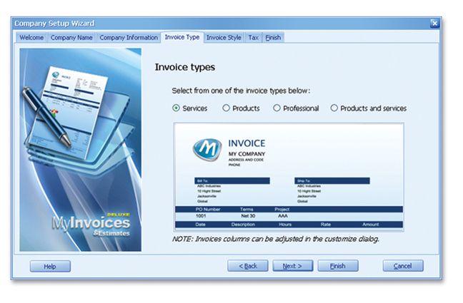 MyInvoices Estimates Deluxe Avanquest - Free invoices software for service business