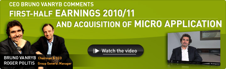 First-half Earnings 2010/11 and Acquisition of Micro Application