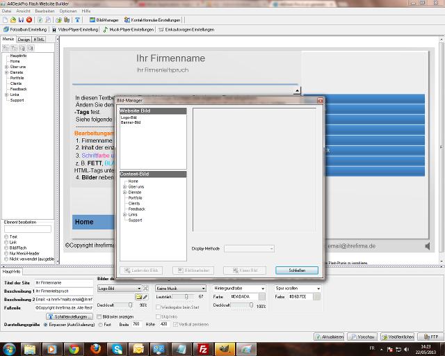 EigeneFlash-Webseiteoder Multimedia-Präsentation </br>- in nur wenigen Klicks