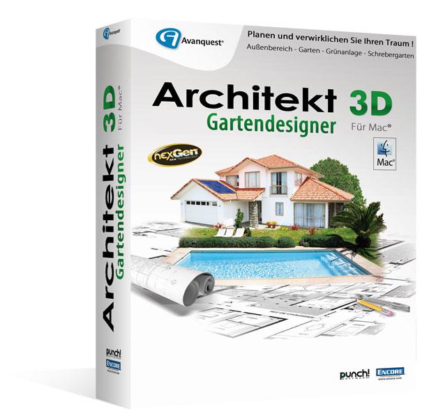 Architekt 3d x7 gartendesigner f r mac fotorealistische for Software gartenplanung mac