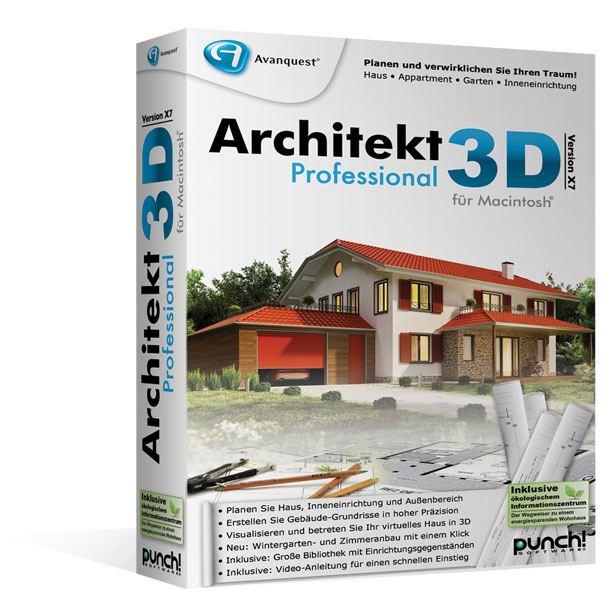 architekt 3d x7 5 professional f r mac hausdesign zeichen software. Black Bedroom Furniture Sets. Home Design Ideas