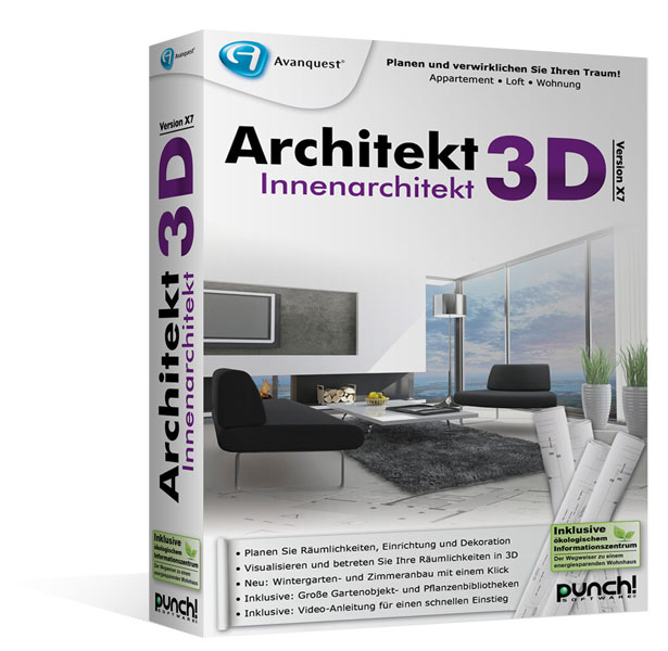 Architekt 3d x7 6 innenarchitekt f r windows for Innenarchitektur software