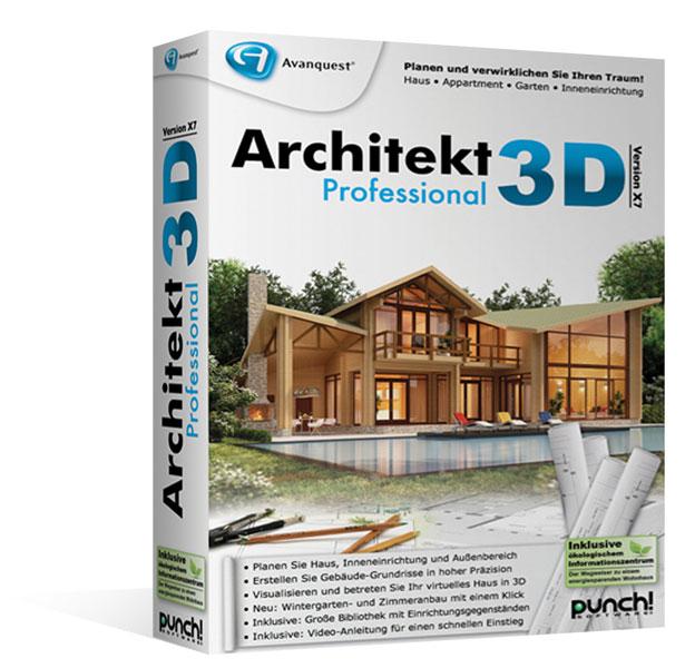 architekt 3d x7 professional ultrarealistische planung