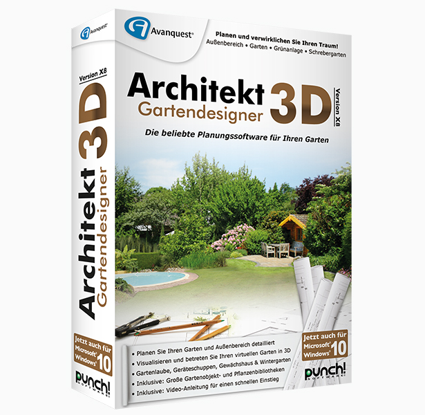 Architekt 3D X8 Gartendesigner </br>für Windows®