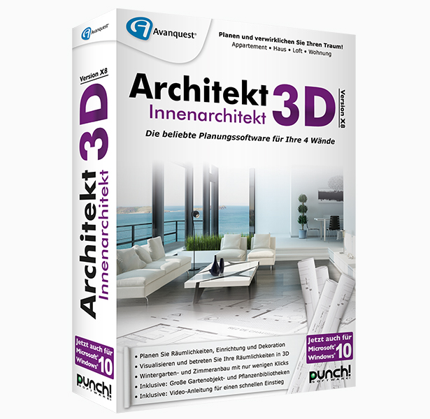Architekt 3d x8 innenarchitekt f r windows for Innenarchitektur software