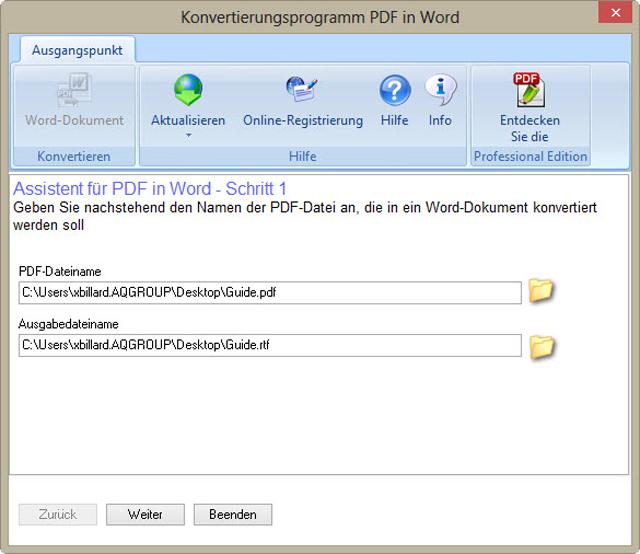 Pdf in textdokument konvertieren