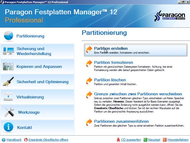 Professionelle Festplattenmanagement-Lösung für physische und virtuelle Windows®-Arbeitsplätze