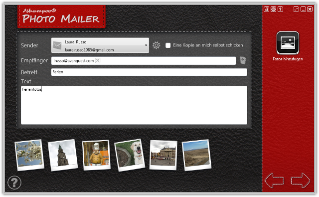 Die einfachste Art, Bilder per E-Mail zu teilen.