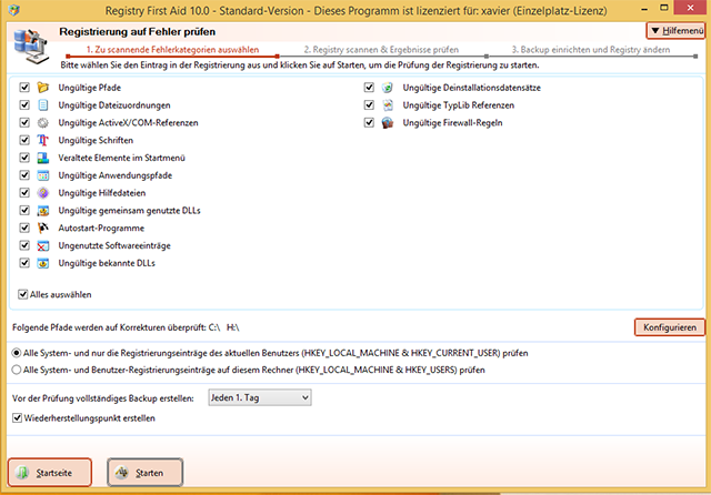 Reparieren und optimieren Sie Ihre Registry