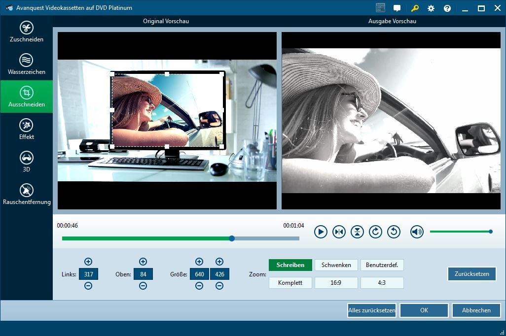videokassetten auf dvd videokassetten digitalisieren videos schneiden optimieren und. Black Bedroom Furniture Sets. Home Design Ideas