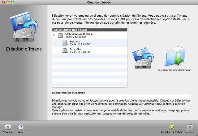Créez une réplique exacte ou une image miroir de vos disques durs et vos volumes logiques pour Mac