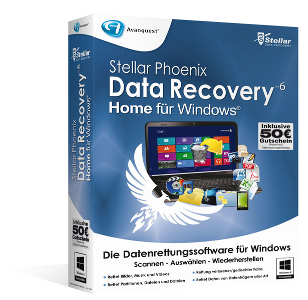Stellar Phoenix Data Recovery 6 </br>für Windows - Home Edition