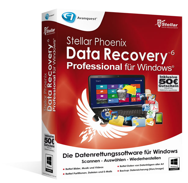 Stellar Phoenix Data Recovery für Windows 6 - Professional Edition