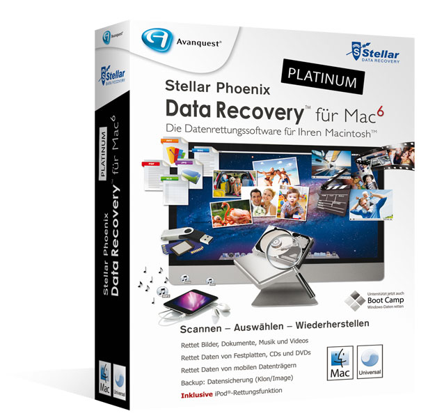 Stellar Phoenix Data Recovery für Mac 6 - Platinum Edition
