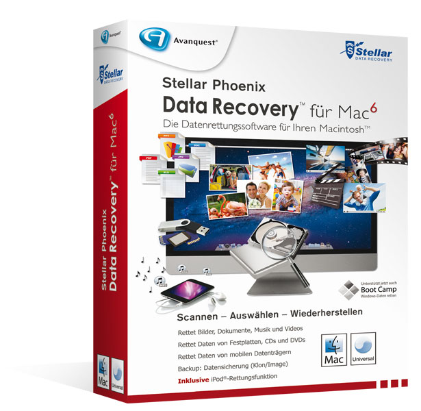 Stellar Phoenix Data Recovery für Mac 6