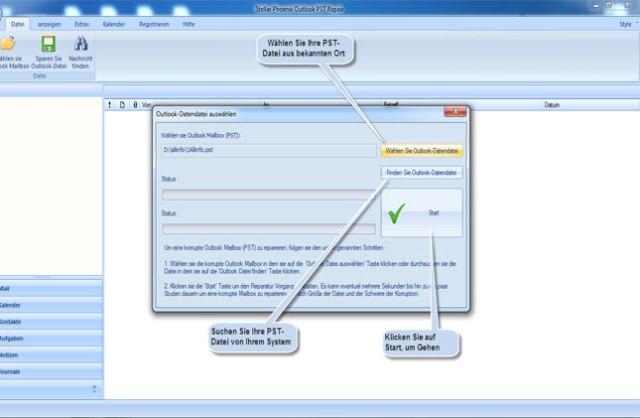 Retten Sie gelöschte & beschädigte E-Mails