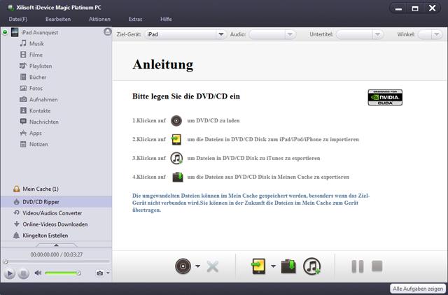 Noch nie war das Konvertieren, Organisieren und Teilen von Dateien zwischen iPad, iPhone, iPod und PCs so einfach!