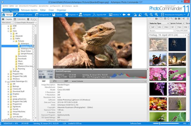 Un Todo-En-Uno para ver imágenes, organizar, editar, convertir y publicar