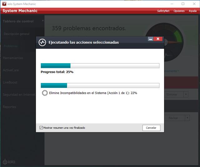 System Mechanic repara y acelera su PC... ¡automáticamente!