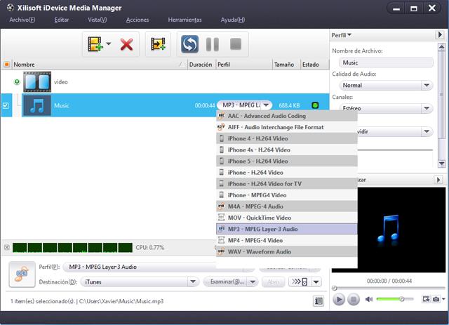 Convierta, gestione y comparta fácilmente archivos de audio y vídeo en su iPhone.