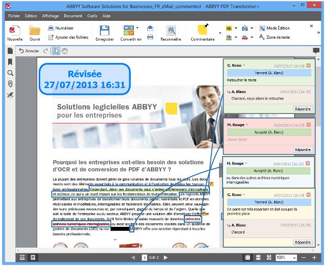 abbyy pdf transformer   logiciel pour cr u00e9er et convertir vos pdf vers et  u00e0 partir de fichiers