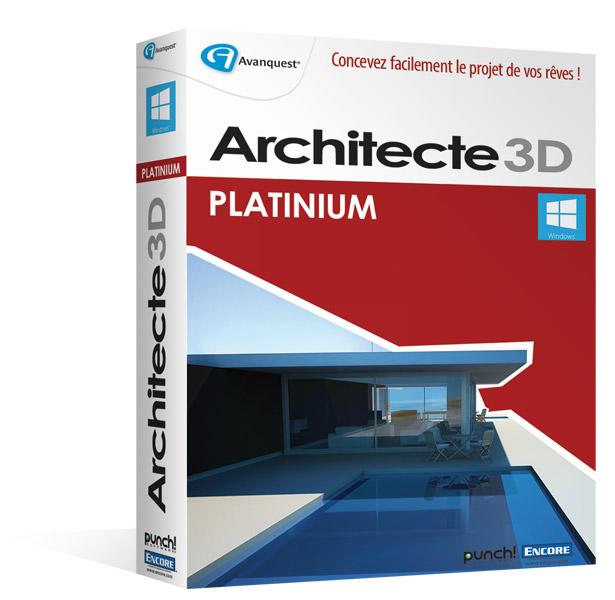 architecte 3d platinium 2015 le logiciel ultime d. Black Bedroom Furniture Sets. Home Design Ideas
