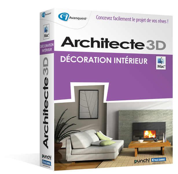 Architecte 3d d co int rieure mac visualisez et for Architecte 3d avanquest