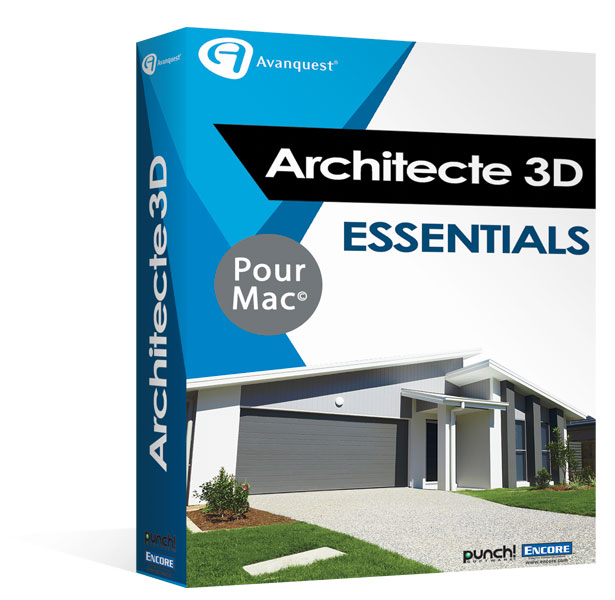 Architecte 3d essentials 2017 concevez facilement la for Architecte 3d avanquest
