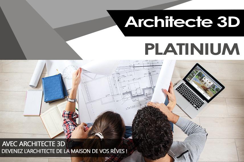 architecte 3d platinium 2017 le logiciel ultime d 39 architecture 3d pour concevoir votre maison. Black Bedroom Furniture Sets. Home Design Ideas