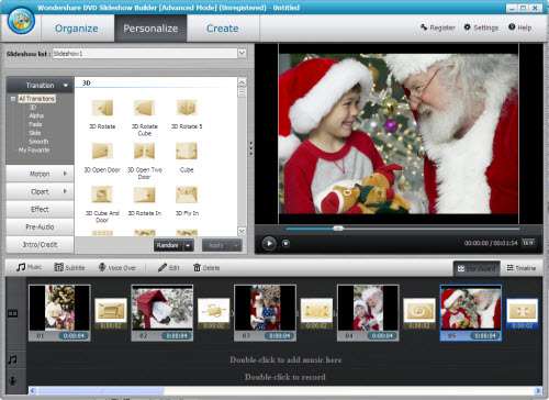 Weave Photos, Video and Music into Slideshow