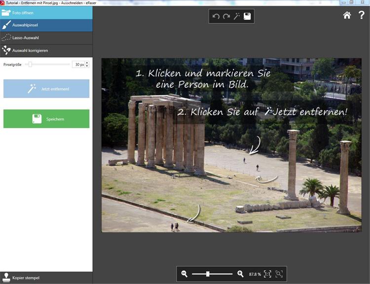 Das digitale Radiergummi für Ihre Fotos
