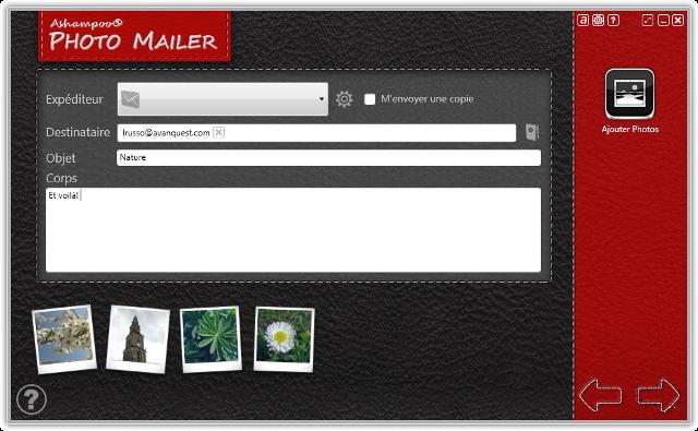 Le moyen le plus simple de partager vos photos par courriel.