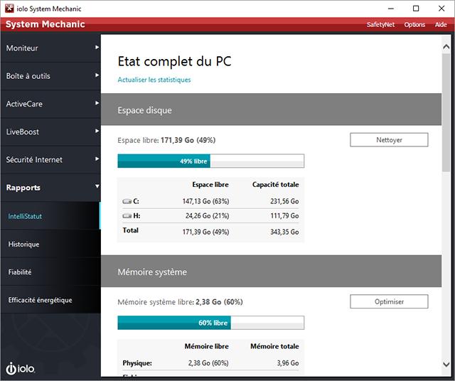 System Mechanic répare et accélère votre PC... automatiquement !