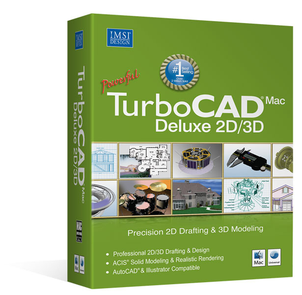 TurboCAD Deluxe 2D/3D V9 Mac – Version Anglaise