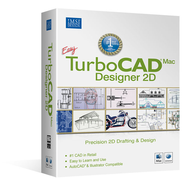 TurboCAD Designer 2D V9 Mac – Version Anglaise