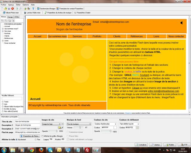 Créez très facilement votre site Web et des présentations multimédias en Flash !