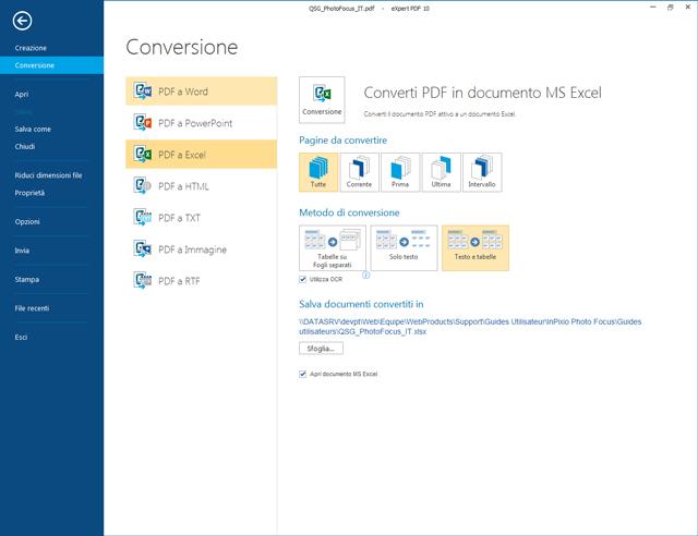 Converti i tuoi file PDF