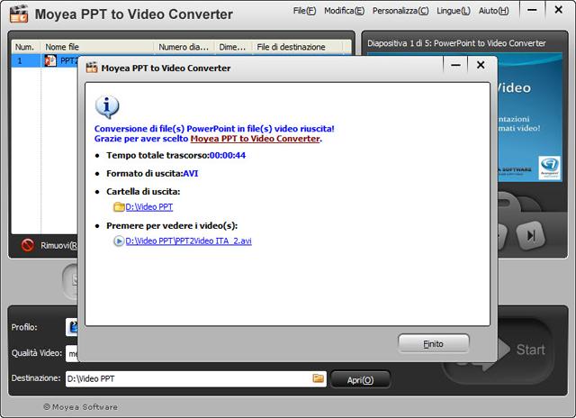 Converti facilmente le presentazioni PowerPoint nei più comuni formati video !