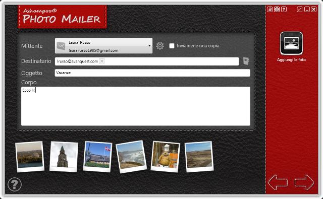 Il modo più semplice di condividere le foto tramite email.