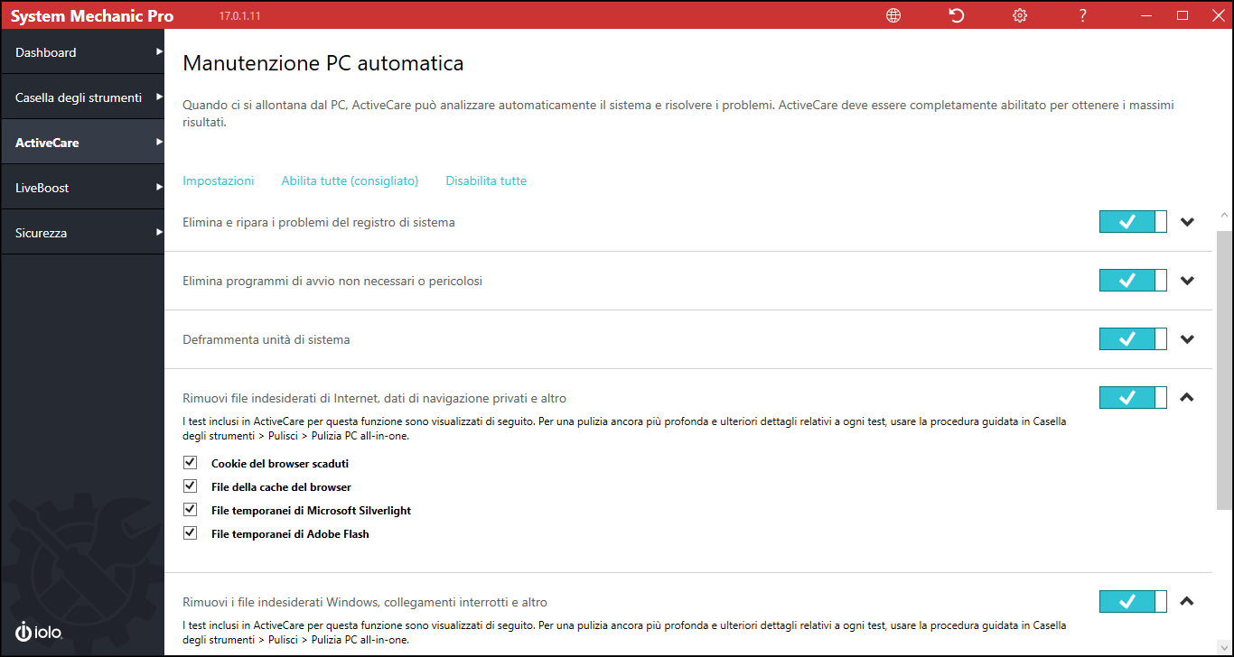 System Mechanic ripara e accelera il tuo PC, automaticamente!