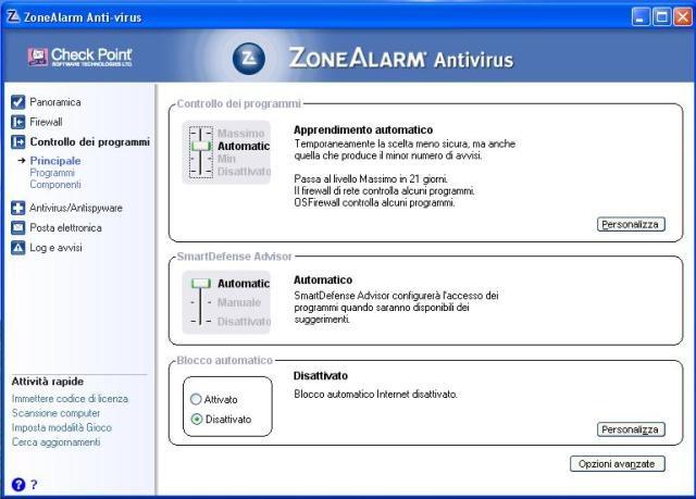Protezione sostanziale da virus e haker