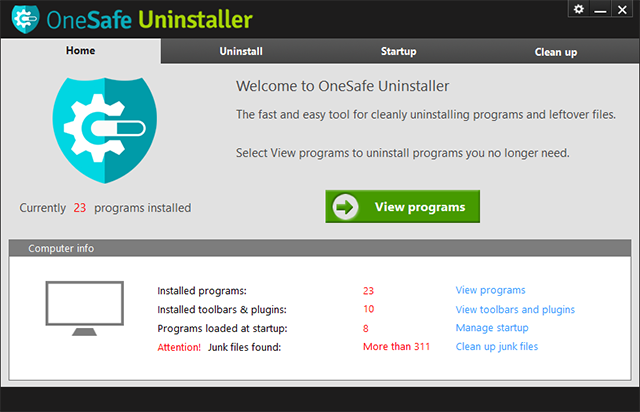 Completely uninstall programs, leftover files and privacy information easily !