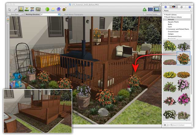 Architect 3d for macintosh ultimate edition the ultimate solution to transform your mac into for Punch home landscape design pro 17 5