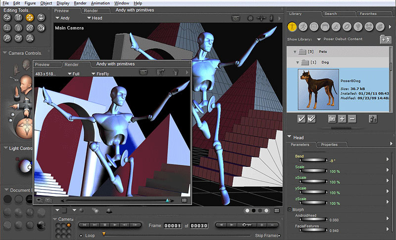 Poser Debut The Easiest Way To Design With 3d Figures
