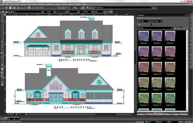 Turbocad deluxe 2015 powerful 2d 3d drafting modelling for 2d blueprint software